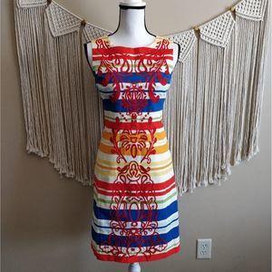Anthropologie Tabitha Banded Totem Shift Dress 0